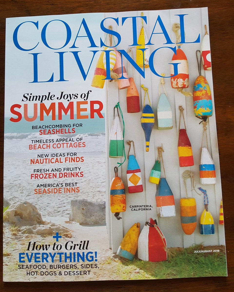 FOREVER MOOTSY FEATURED IN COASTAL LIVING MAGAZINE - JULY / AUGUST 2016