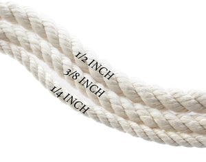 Natural White Dog Collar - Grey Hemp Twine