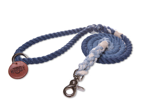 Denim Blue Ombré Dog Leash