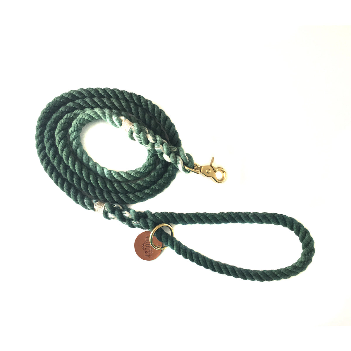 Dark Green Ombré Dog Leash