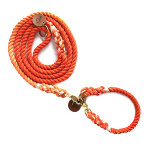 Orange Ombré Dog Leash