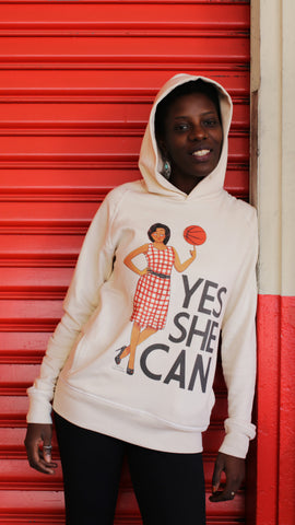 "Hoodie YES SHE CAN ""Michelle Obama"""