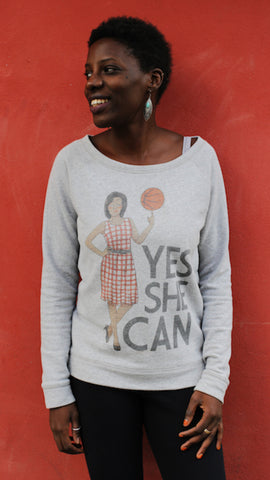 "Sweatshirt YES SHE CAN ""Michelle Obama"""