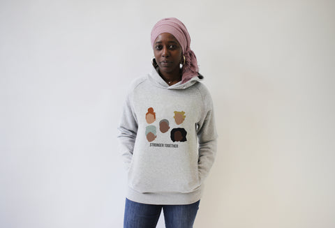 Hoodie STRONGER TOGETHER pour Rokhaya Diallo