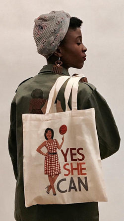 "Totebag YES SHE CAN ""Michelle Obama"""