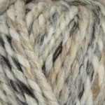 Plymouth Encore Mega Colorspun Yarn in the color White/Taupe 7154