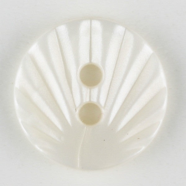 Cream Shell Pattern Button 13mm