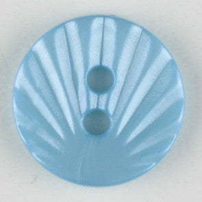 Light Blue Round Polyamide Button 13mm