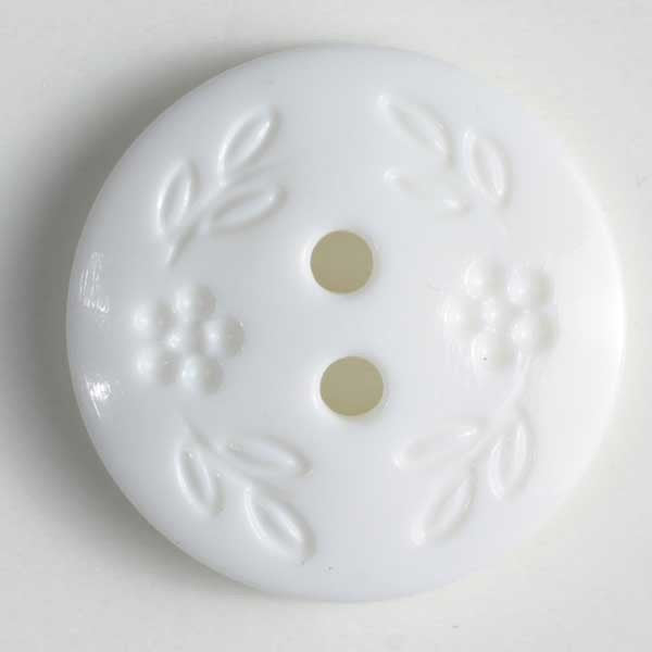White Button with Flowers