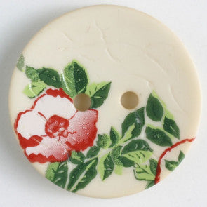 Polyamide button with Rose 23mm