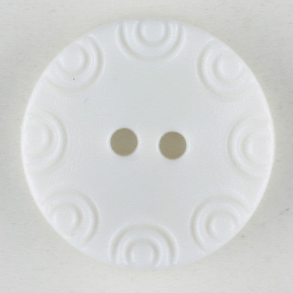 White plastic 2 hole button 13mm