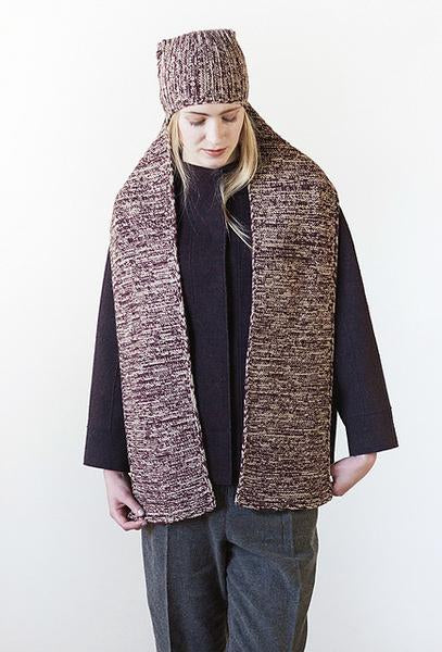 Woolfolk Patterns - Husley Convertible Hat/Cowl & Scarf