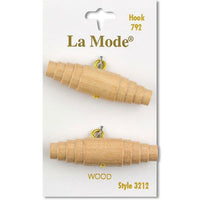 Natural Wood Buttons by LaMode