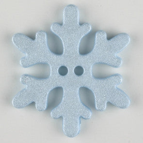 Blue Snowflake Button 20mm