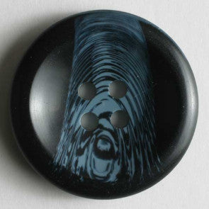 Blue Round Art Fasion Button 20mm