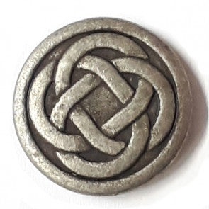Tin Celtic Knot Button with shank 23mm