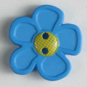 Blue Daisy Button 20mm