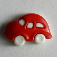 Novelty Red Car Button with shank 20mm