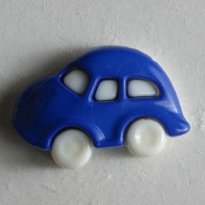 Novelty Blue Car Button with shank 20mm