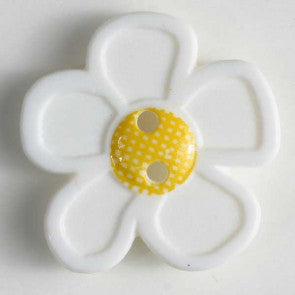 White Daisy Button 20mm