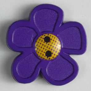 Purple Daisy Button 28mm