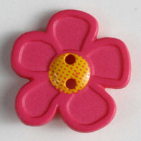 Pink Daisy Button 20mm