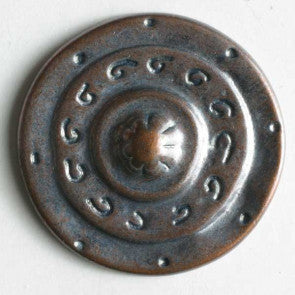 Full metal Copper button with shank 20mm