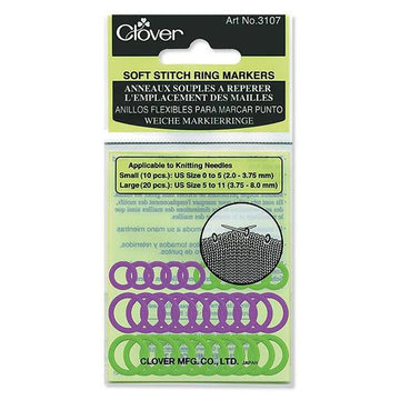 Clover Small Soft Stitch Ring Markers 3107