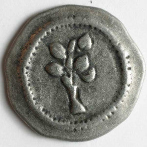 Full Metal Button - Antique Tin 30mm