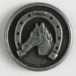 Horseshoe Button with shank, 20mm