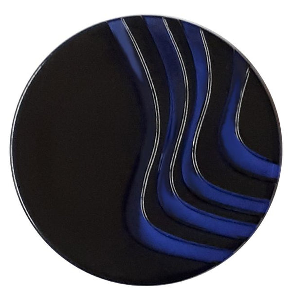 Acrylic Glass Button with shank Royal Blue 25mm