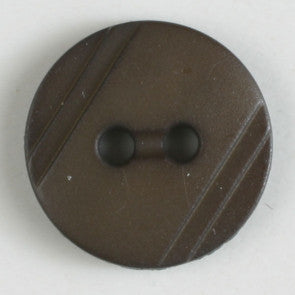 Polyamide Brown Wood Grain button 13mm