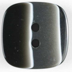 Polyester Black & Grey Square button 23mm
