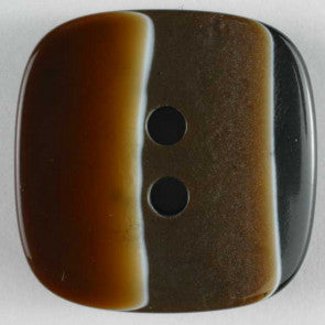Polyester Brown Square button 23mm