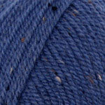 Plymouth Encore Worsted Tweed Yarn in the color Denim 4108