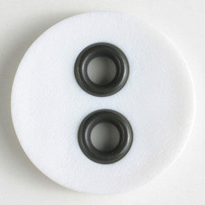 White Fashion Button 23mm