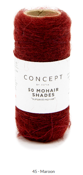 50 Mohair Shades by Katia