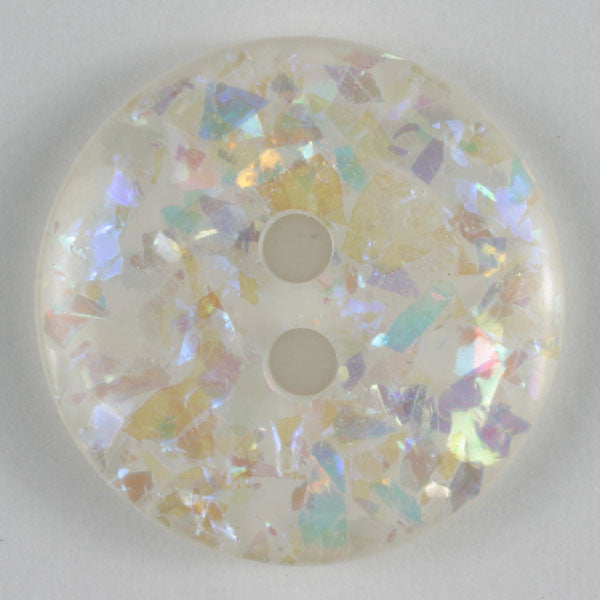 White with Sparkles Fashion Button