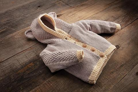 Baby Bear Cardigan Kit from Appalachian Baby