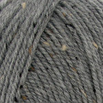 Plymouth Encore Worsted Tweed Yarn in the color Gray T789