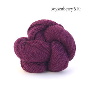 Kelbourne Woolens Andorra Yarn in the color Boysenberry