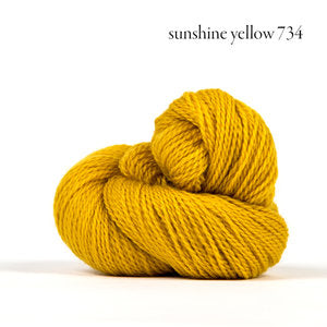 Kelbourne Woolens Andorra Yarn in the color Sunshine Yellow