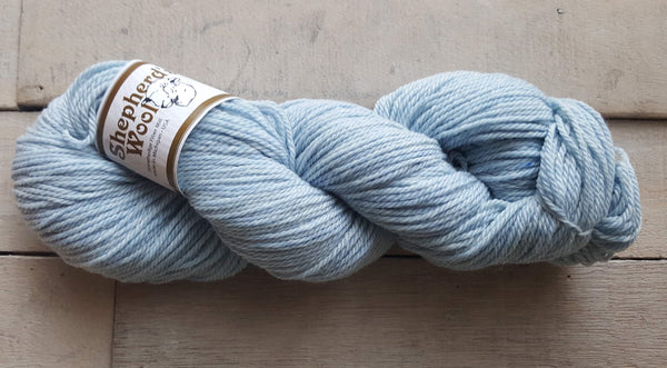 Shepherd's Wool Worsted in the color Baby Blue