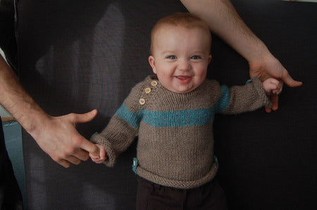 Baltic Baby Sweater pattern by Frogginette