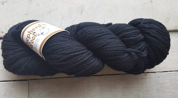 Shepherd's Wool Worsted in the color Black