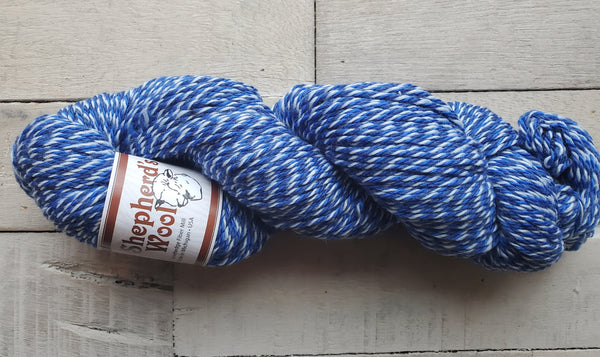 Shepherd's Wool Worsted in the colorway Blue Jay