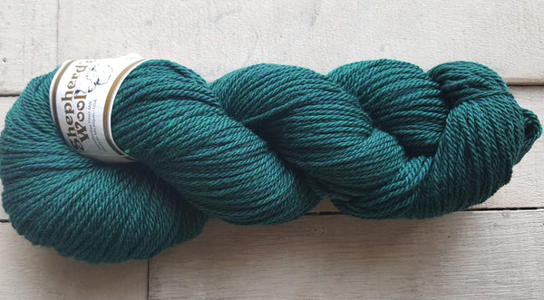 Shepherd's Wool Worsted in the color Blue Spruce