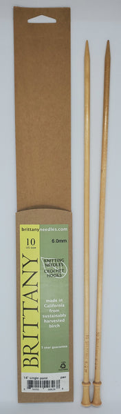 Brittany Birch 14 inch Straight knitting needles size US 10