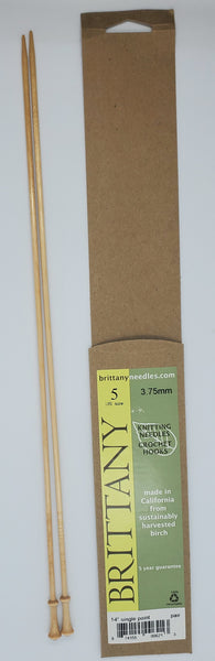 Brittany Birch 14 inch Straight knitting needles size US 5
