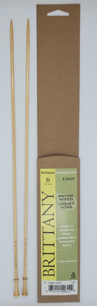 Brittany Birch 14 inch Straight knitting needles size US 6